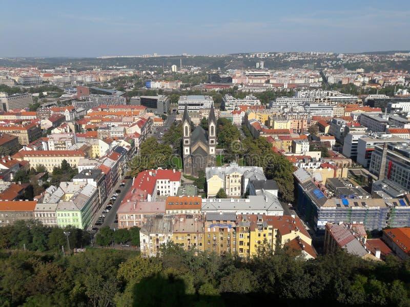 Prag-Kathedrale Hauptstadt der alten neogothic Architekturkirche gesetzte tschechische im heißen Sommer in Mitteleuropa-Protestan lizenzfreies stockfoto