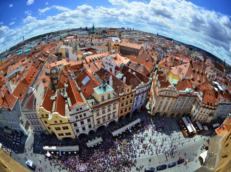 Prag - Panoramablick lizenzfreie stockbilder
