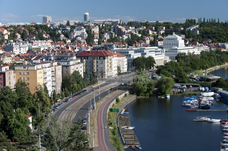 Prag - Podoli Viertel stockbilder