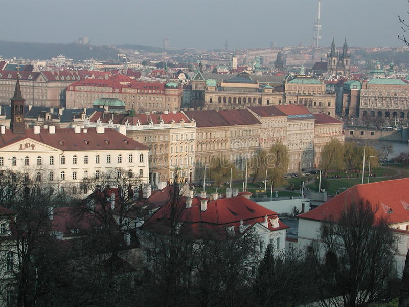 Prag sightseeingsstad royalty-vrije stock foto's