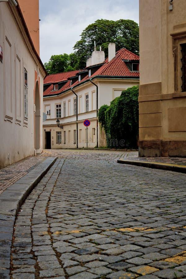 Prag-Straße lizenzfreie stockfotografie