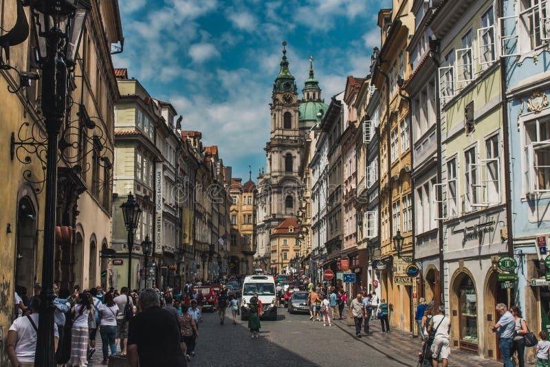 Prag-Straßenansicht lizenzfreie stockbilder
