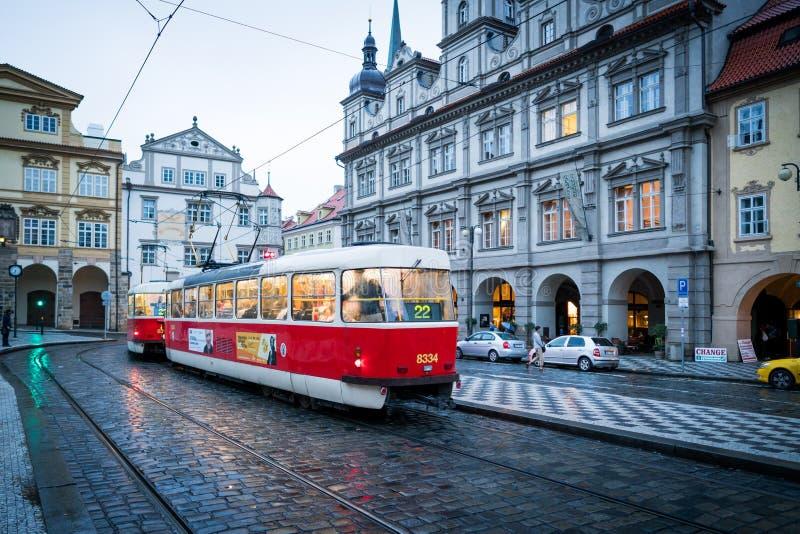Prag-Stra?enansicht stockfoto