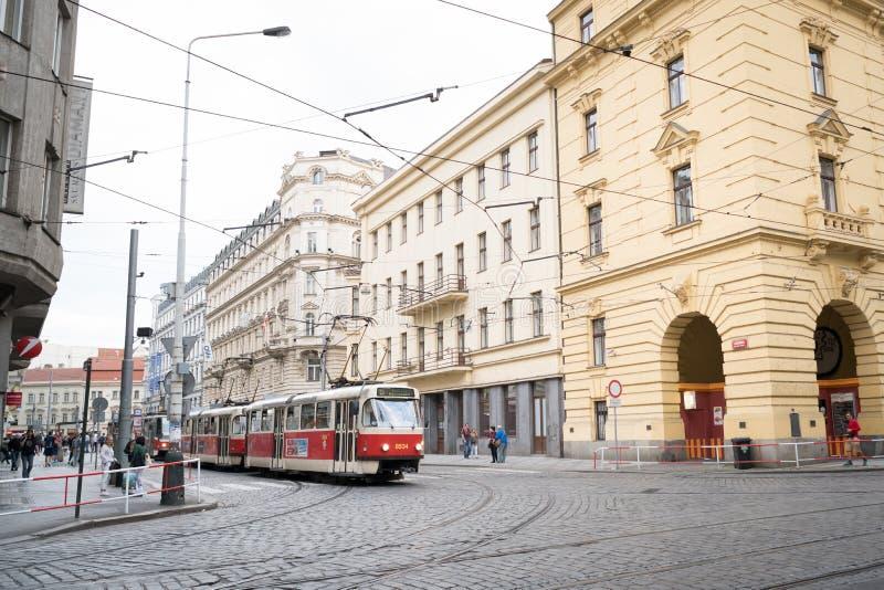 Prag-Streetscape stockfoto