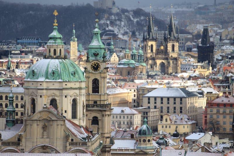 Prag-Türme lizenzfreie stockbilder