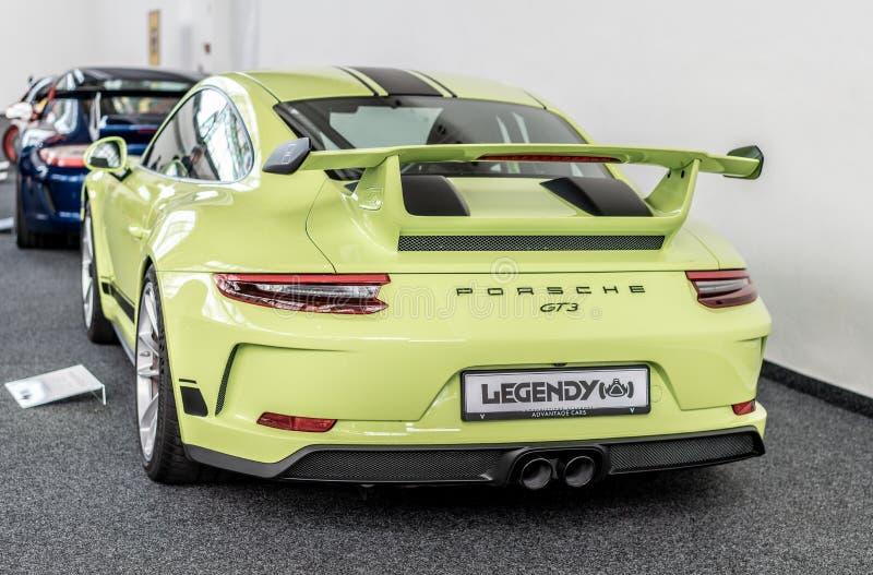 Prag, Tschechische Republik - 16/5/2019 Porsche 911 GT3 lizenzfreies stockfoto