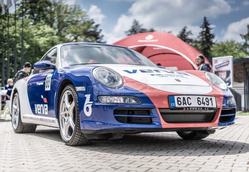 Prag, Tschechische Republik - 16/5/2019 Porsche 911 lizenzfreie stockbilder