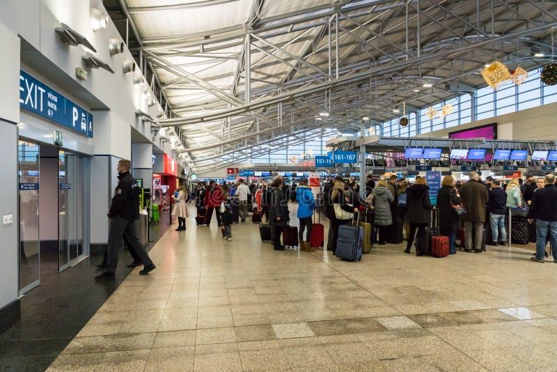 Prag Vaclav Havel Airport Terminal 1 stockbild