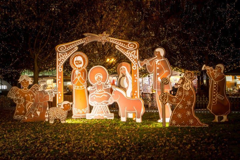 Prag-Weihnachtsmarkt stockfoto