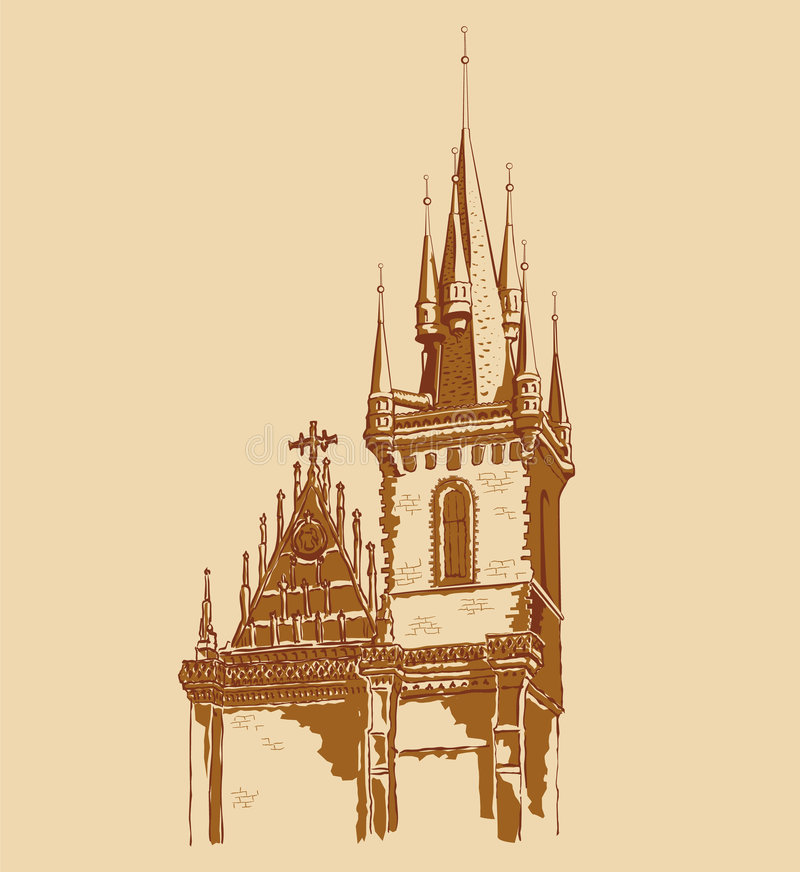 Praga ilustração stock