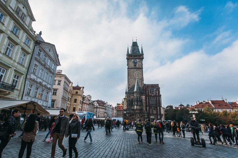 Praga cesky krumlov republiki czech miasta średniowieczny stary widok obrazy stock