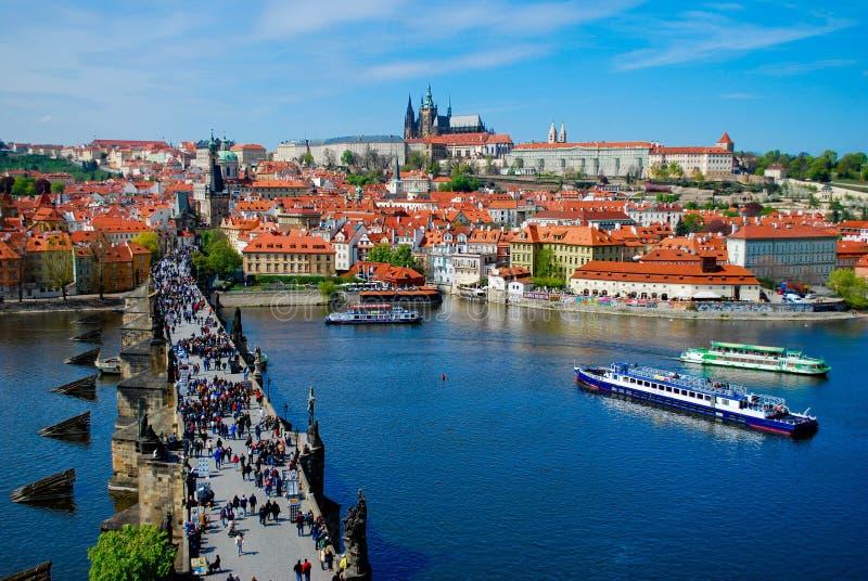 Praga, Charles Bridge, immagini stock