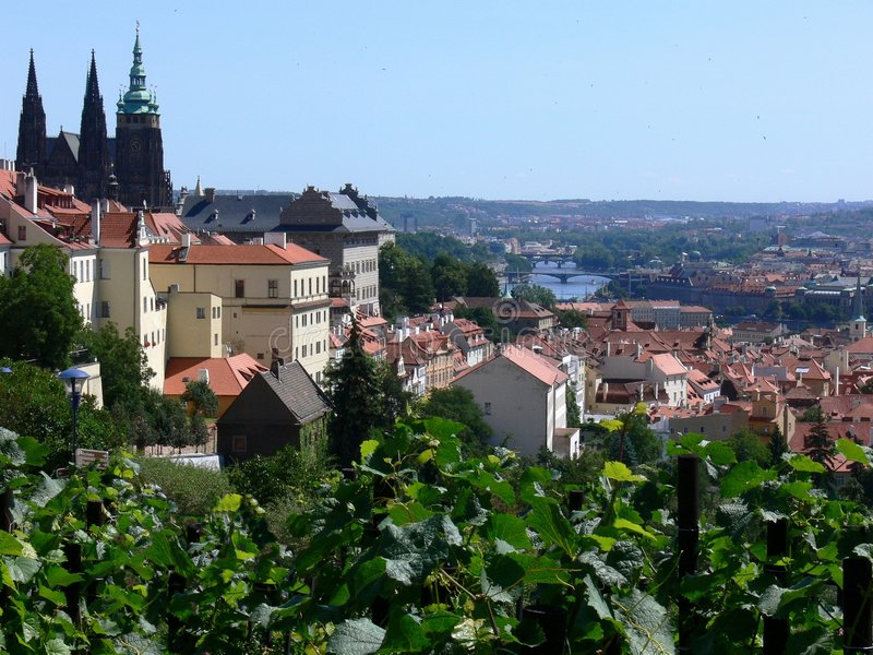 Praga, città storica fotografia stock libera da diritti