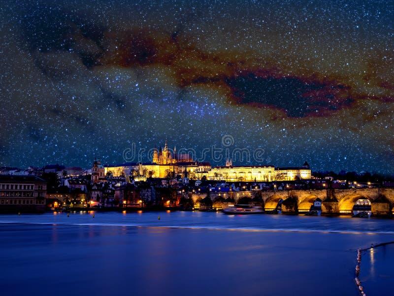 Praga com estrelas imagens de stock