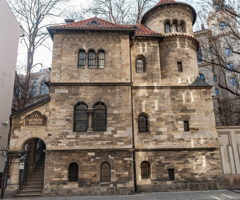 PRAGA, czech - MARZEC 14, 2016: Architektura Praga, czech Żydowski muzeum w Praga zdjęcia royalty free