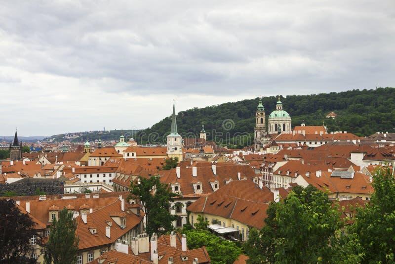 Praga dachy obraz royalty free