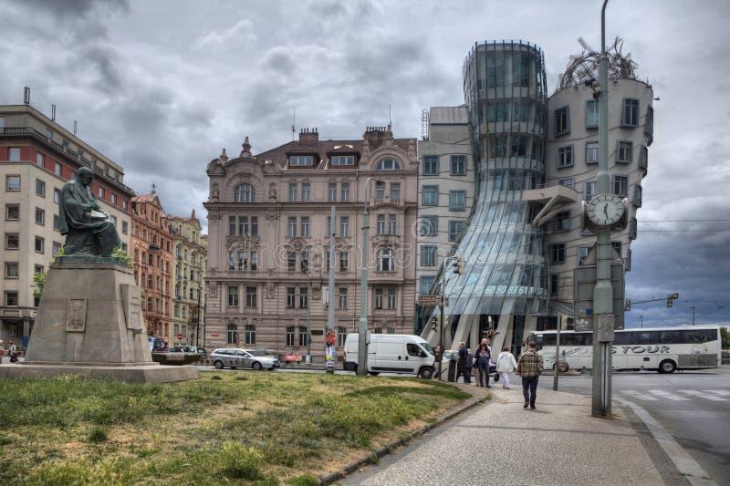 Praga Dancingowy dom zdjęcie royalty free