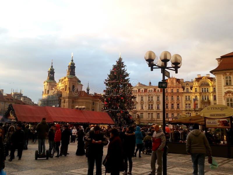 Praga durante o Natal imagens de stock
