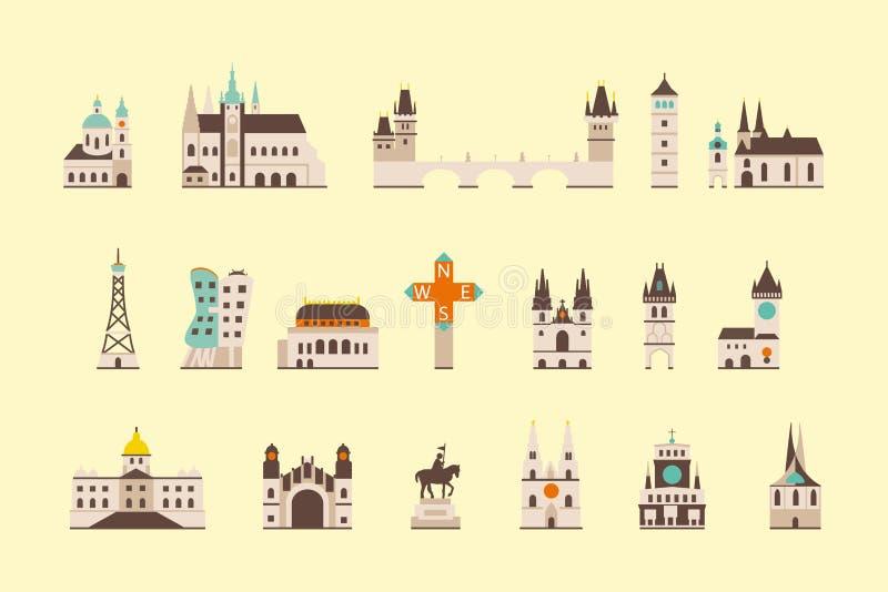 Praga dziejowy budynek ilustracja wektor