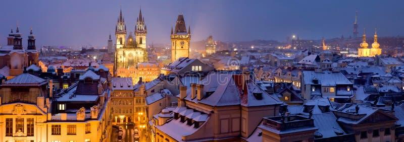Praga en invierno imágenes de archivo libres de regalías