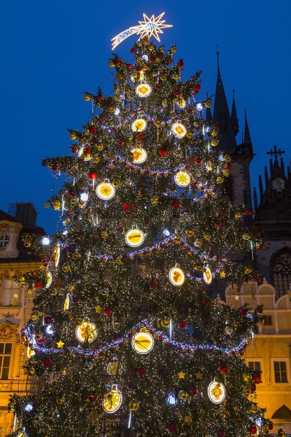 Praga en la Navidad imagenes de archivo