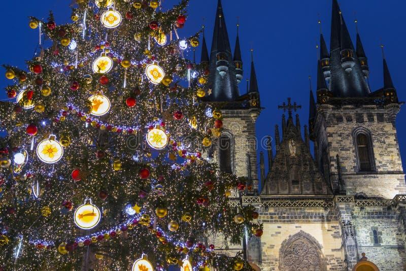 Praga en la Navidad foto de archivo