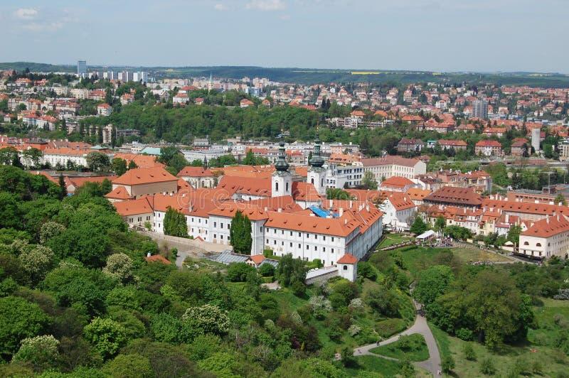 Praga en resorte Monasterio de Strahov imágenes de archivo libres de regalías
