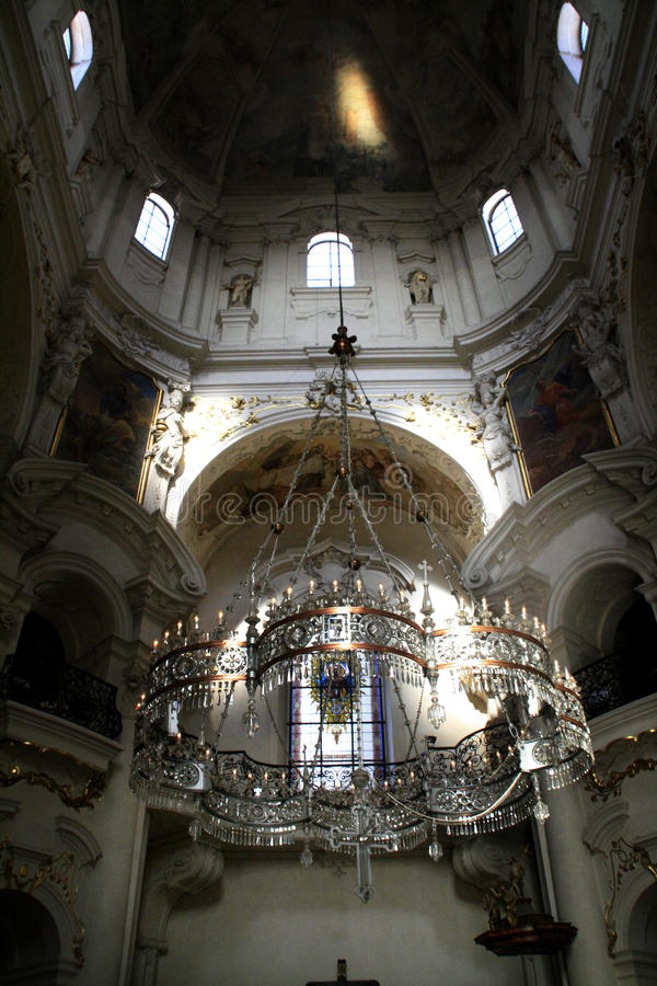 Praga. Igreja do St. Nikolas imagens de stock