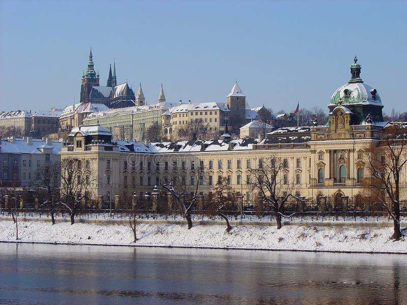 Praga. Inverno imagens de stock royalty free