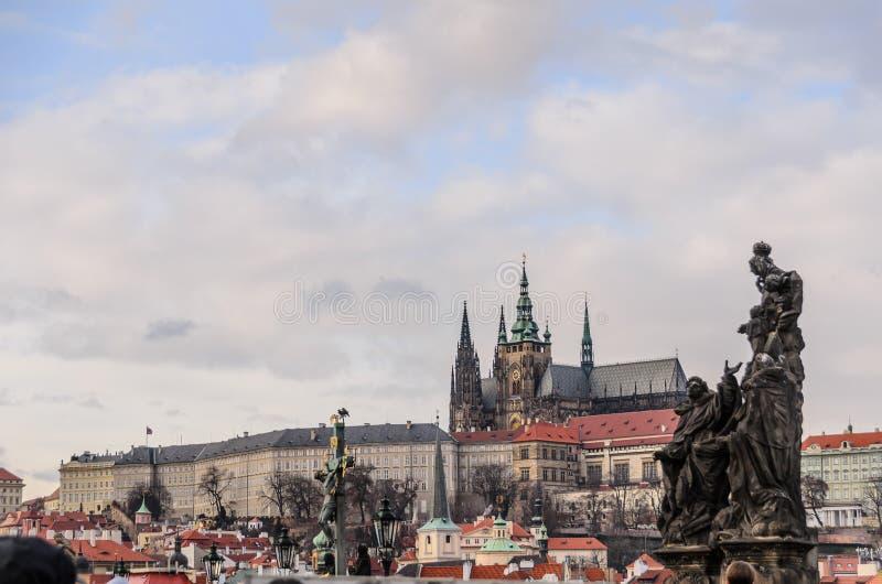 Praga kasztelu Charles most, Karluv Najwięcej zdjęcia royalty free