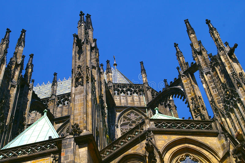 Praga kasztelu katedry republika czech zdjęcie stock