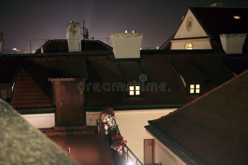 Praga Lesser Town Roofs fotografía de archivo libre de regalías