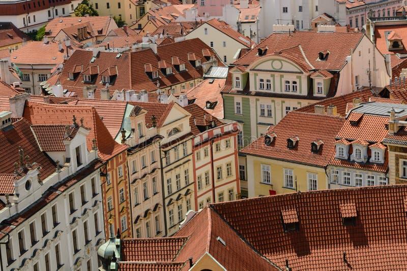 Praga miasteczka Starzy dachy fotografia royalty free