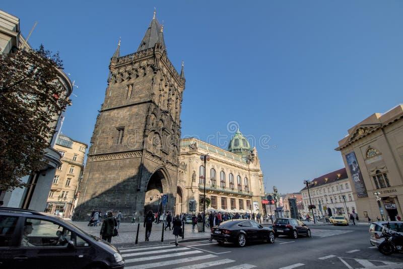 Praga Miejski dom w jesieni, Praga, republika czech obrazy royalty free