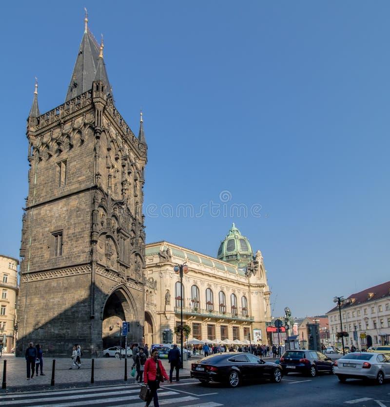 Praga Miejski dom w jesieni, Praga, republika czech zdjęcie stock