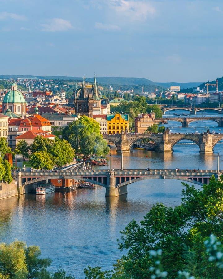 Praga mosty zdjęcie royalty free