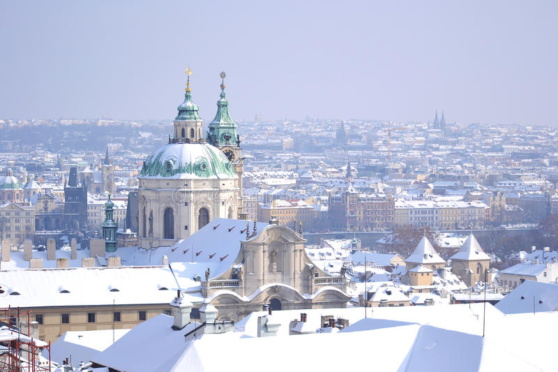 Praga no inverno imagem de stock royalty free