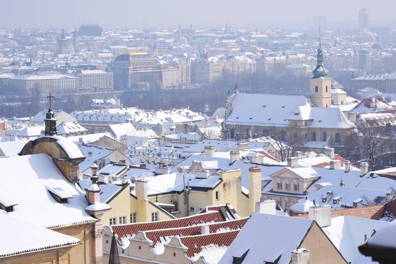 Praga no inverno fotos de stock