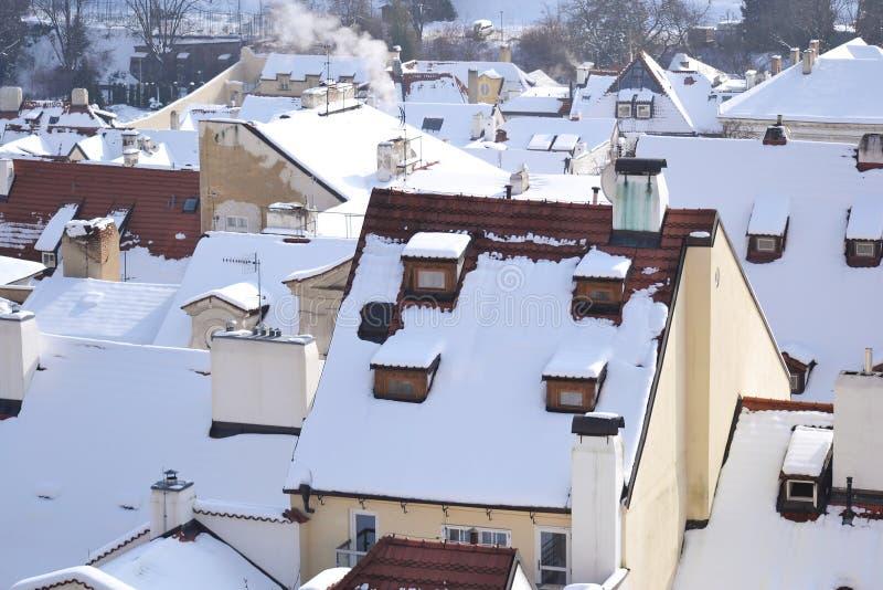 Praga no inverno fotos de stock royalty free