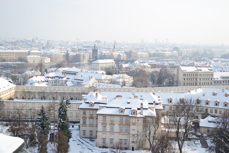 Praga no inverno foto de stock royalty free