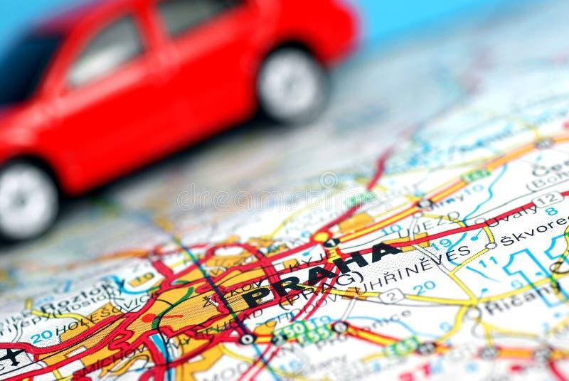 Praga no mapa. imagem de stock royalty free