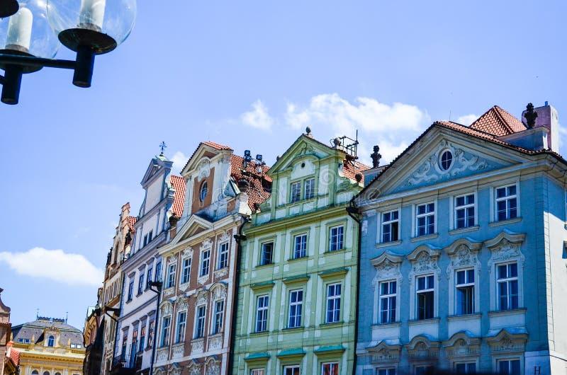 Praga okno obrazy royalty free