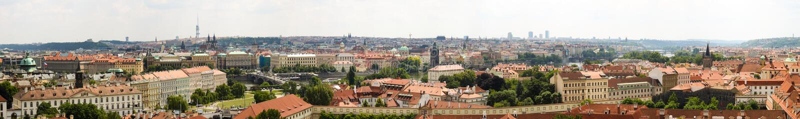 Praga panorama 01 fotografia royalty free