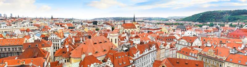 Praga panoramy widok, Praga fotografia stock