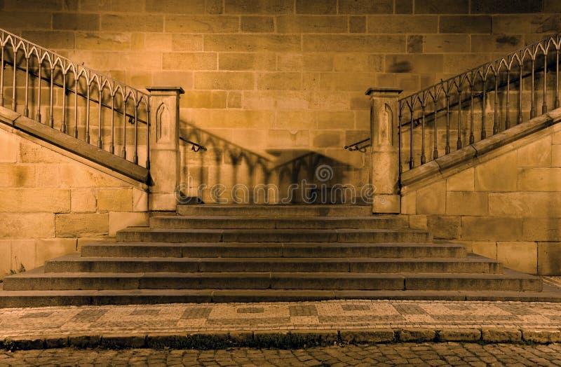 Praga - particolare del ponticello del charles a Praga fotografia stock