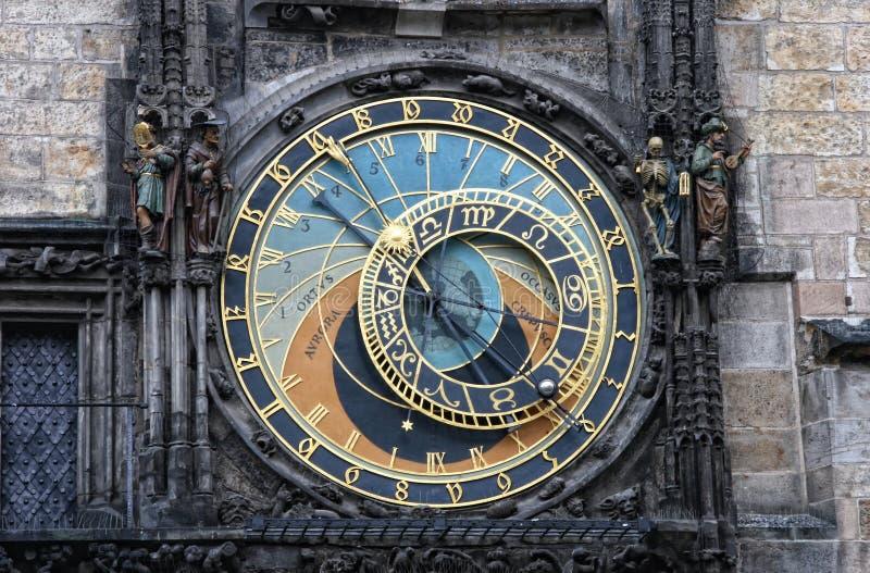 Praga - Praga - reloj astronómico fotografía de archivo