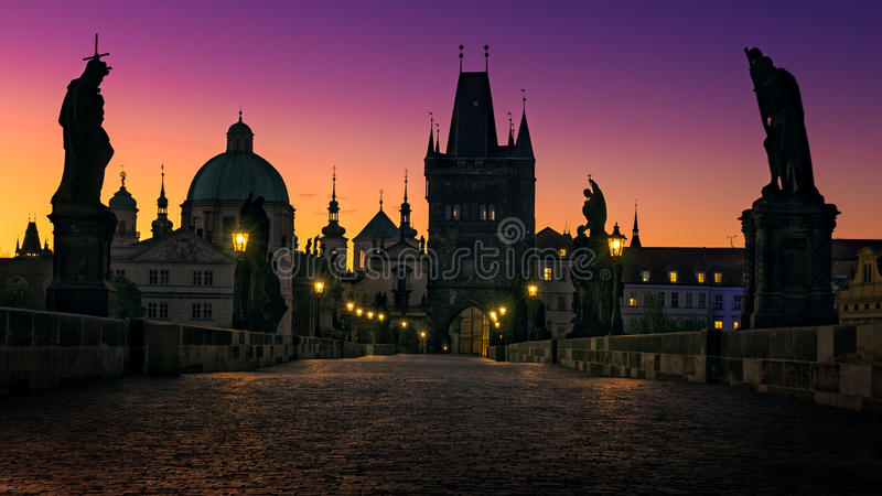Praga, puente de Charles fotografía de archivo libre de regalías