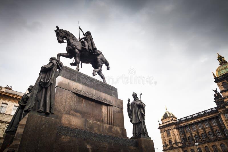 Praga, quadrato di Wenceslas immagini stock libere da diritti