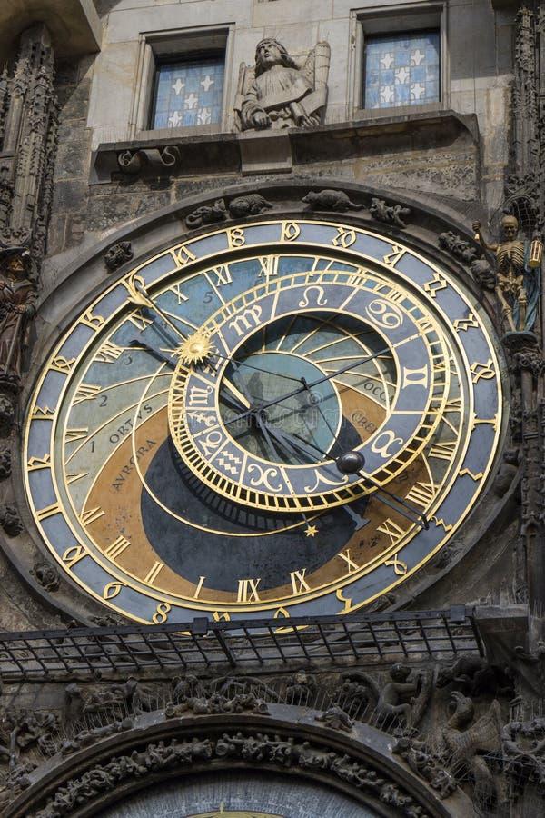 Praga, República Checa - 6 de outubro de 2017: Seletor astronômico de t fotografia de stock