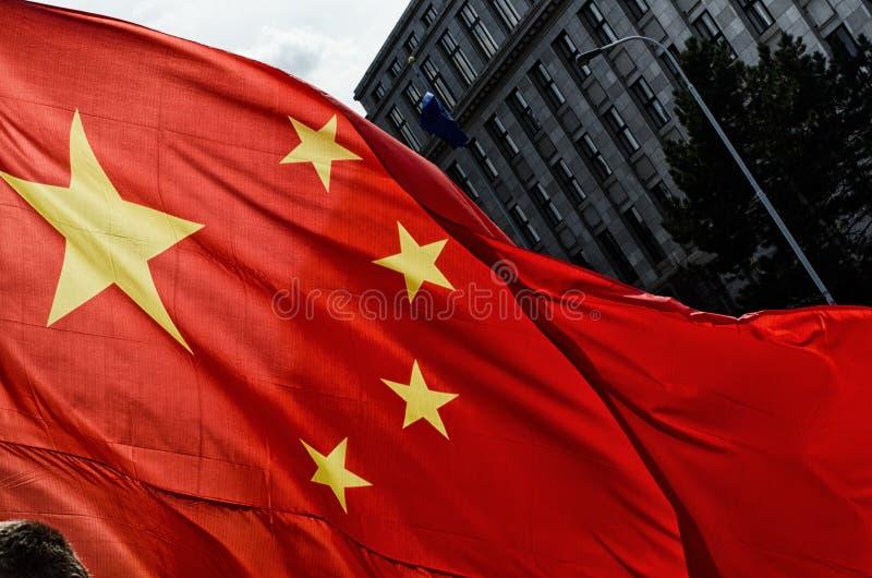 Praga, república checa - março, 28o 2016: Presidente chinês Xi imagem de stock royalty free